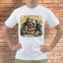 Gildan The Bouncer Bulldog Cigar Box Label White T-Shirt S,M,L,XL,2XL,3XL men's t-shirt