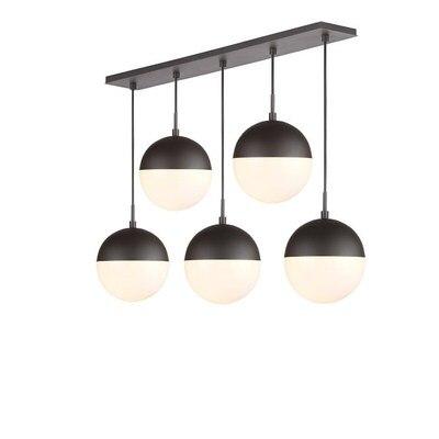 Lampes suspendues modernes boule de verre noir suspension longue ligne lampe suspendue pour cuisine salon nordique Globe luminaires