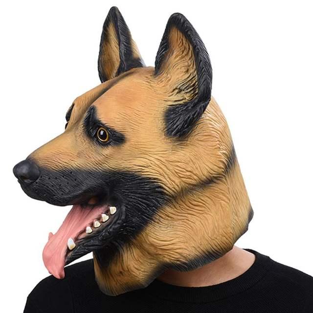 Free Sized Latex Dog Mask