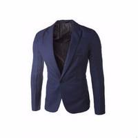 2016 Brand Clothing Blazer Men One Button Men Blazer Slim Fit Costume Homme Suit Jacket Masculine