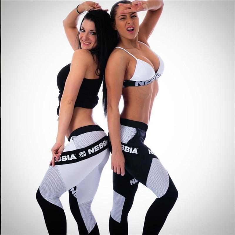 2018 Новый Для женщин Леггинсы для женщин Кальсоны йоги Push-Up Брюки для девочек Sexy бедра Фитнес буквы сшивание Бег Леггинсы для женщин быстрый ...