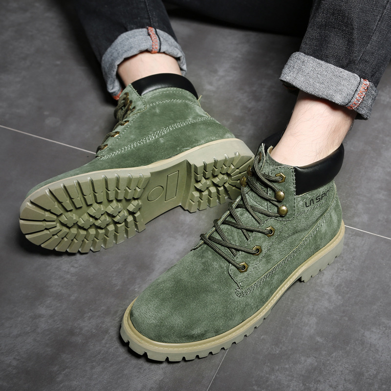 941cbaea3edd7 Moda De 2 Tobillo Hombres Calzado Zapatos Botas Alta Invierno Top Genuino  Otoño Cuero Nuevos 3 ...