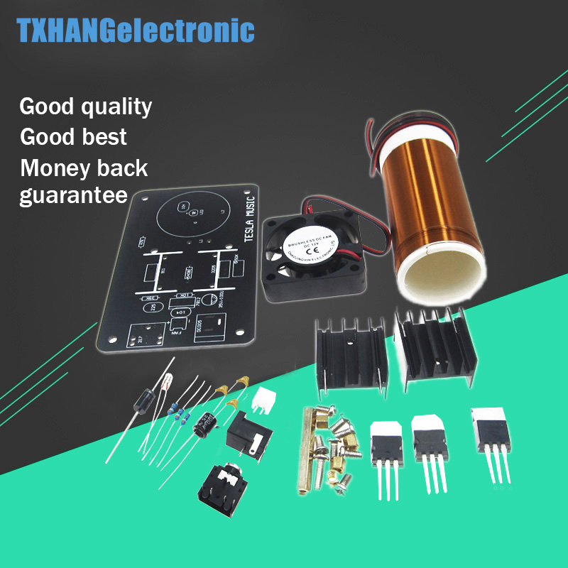 Integrated Circuits Tesla 20v Heat Sink Fan Mini Wireless Music Musical Coil Loud Speaker Power Magic Module Board Diy Kit Toy Jx03 Under Electronic Components & Supplies