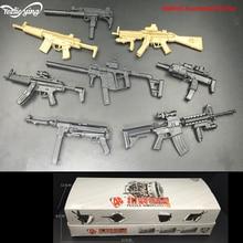 купить 1/6 Military Scales 4D Gun Model Toy Set Soldier accessories Weapon MP5/UZI/HK53/KRISS/MP40/MP7/MP5SD5/MK18 For Action Figure дешево