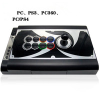 Game joystick with LED luminous rocker button USB,PC,P S 3 Atradius Arcade rocker with fighting Games Consoles Game handle
