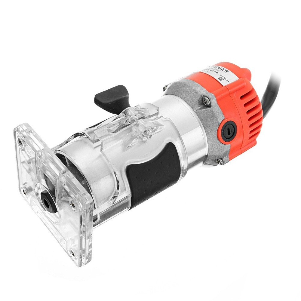 Маршрутизатор триммер 450Вт&амп;650 Вт 30000 об / мин, прочный Малый Медный мотор резьба станок электрический деревообрабатывающий инструмент триммер мощность АС Plug