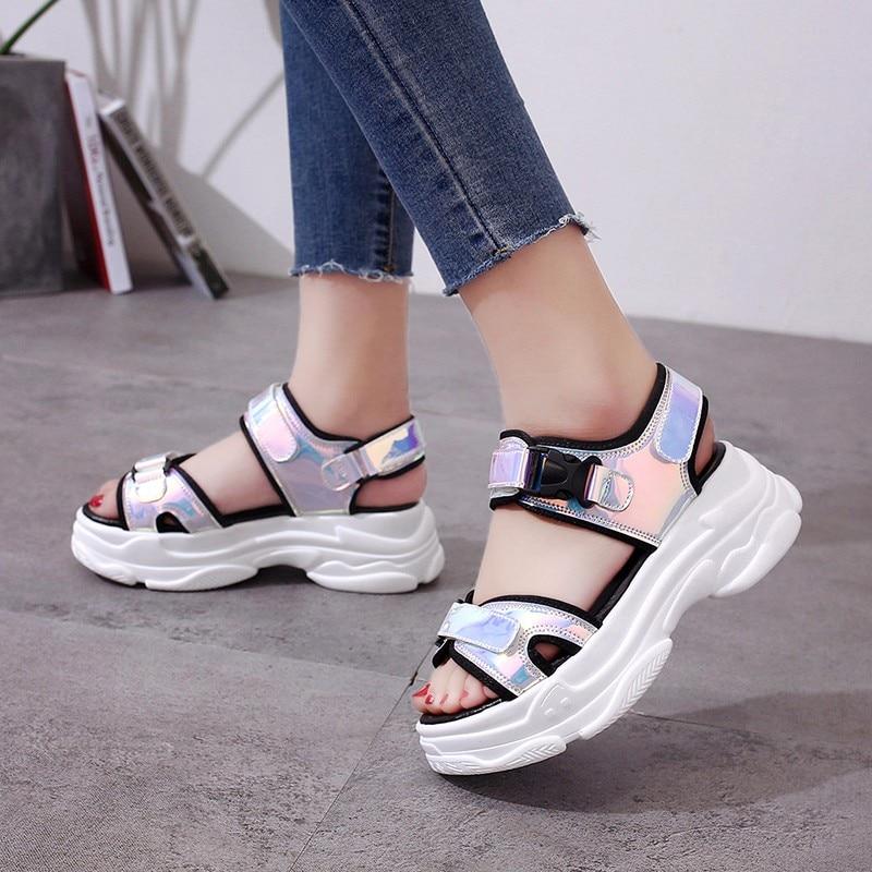 HTB18gZoM3HqK1RjSZFEq6AGMXXaV Sexy Open-toed Women Sport Sandals Wedge Hollow Out Women Sandals Outdoor Cool Platform Shoes Women Beach Summer Shoes 2019 New