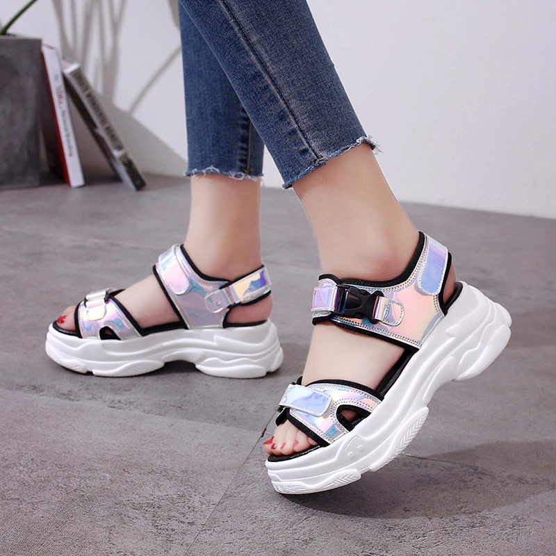 HTB18gZoM3HqK1RjSZFEq6AGMXXaV Sexy Open toed Women Sport Sandals Wedge Hollow Out Women Sandals Outdoor Cool Platform Shoes Women Beach Summer Shoes 2019 New