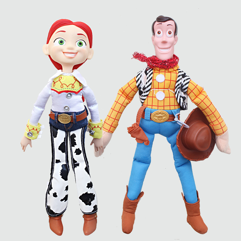 35cm Toy Story 3 Jessie Woody PVC Action Toy Figure PP Cotton Plush Doll Stuffed Soft Toys For Children Christmas Gift lps toy pet shop cute beach coconut trees and crabs action figure pvc lps toys for children birthday christmas gift