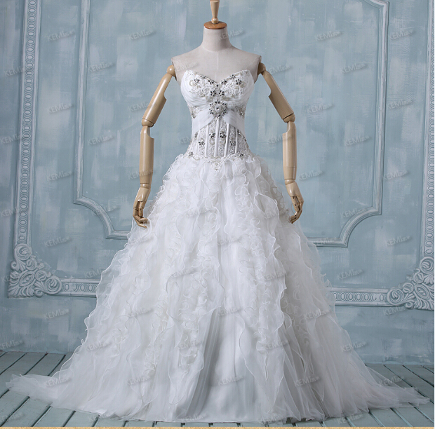 bridal gown crystal beading 2018 fashion robe de mariage vestido de noiva ruffles organza ball gowns mother of the bride dresses in Mother of the Bride Dresses from Weddings Events