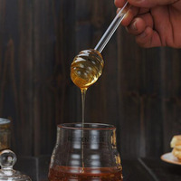 Стеклянная ложка для меда