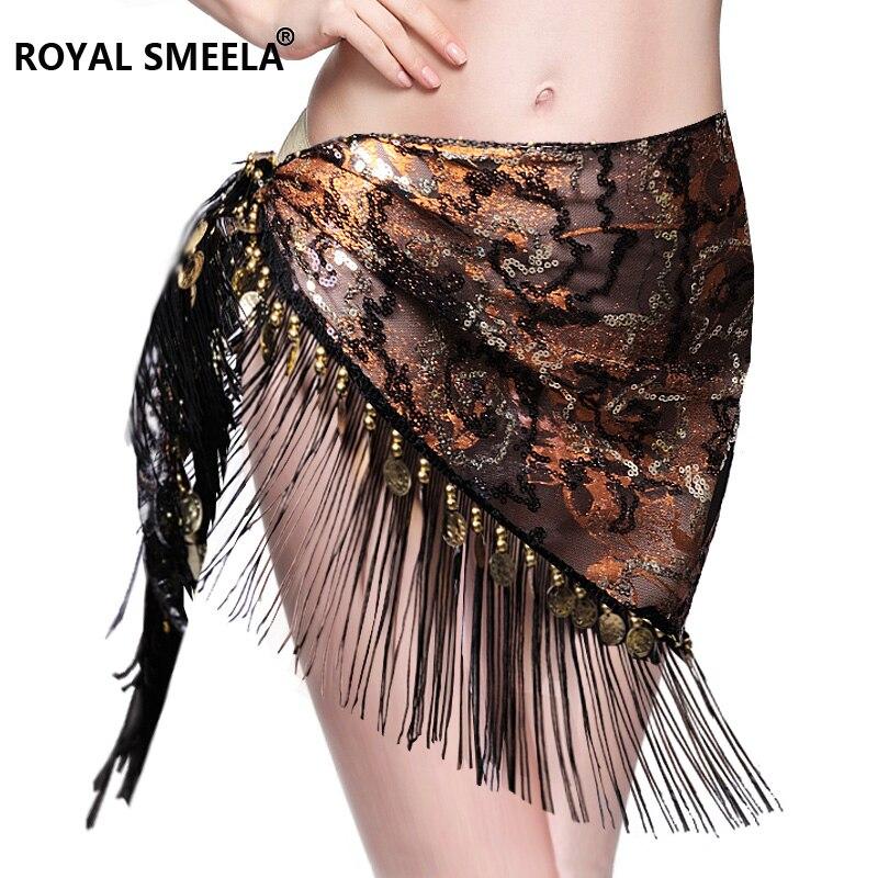 Hot Sale 2019 New Design Embroidery Bellydance Hip Scarf Tassels Hip Scarves Tribal Belly Dance Fringe Shawl Belt 9758