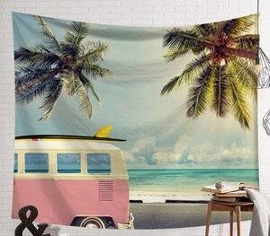 Image 5 - CAMMITEVER tabla de Surf para deportes de playa, verano, tapetes para colgar en la pared, cielo azul, decorativos