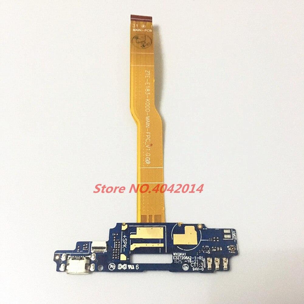 USB originale di Ricarica di Bordo della porta Dock modulo + Microfono cavo Della Flessione del Connettore Per ZTE Lama A610 BA610 BA610T/C di ricambio