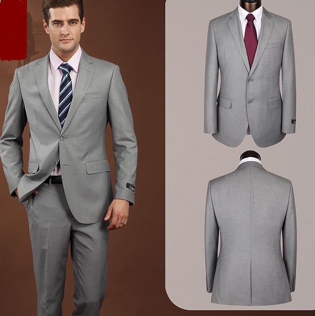 Aliexpress.com : Buy 2014 fashion men grey color business suits
