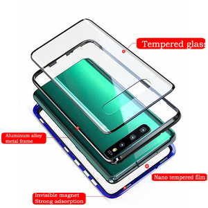 Image 3 - Capa magnética 360 para celular, para samsung s10 5g s9 s8 plus note 9 8 a7 a9 2018 a50 capa completa protetora a60 a70 a30 a80 2019