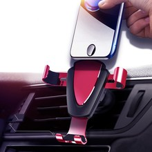 Car mobile phone car bracket triangle fixed outlet navigation gravity is suitable for iphong androi
