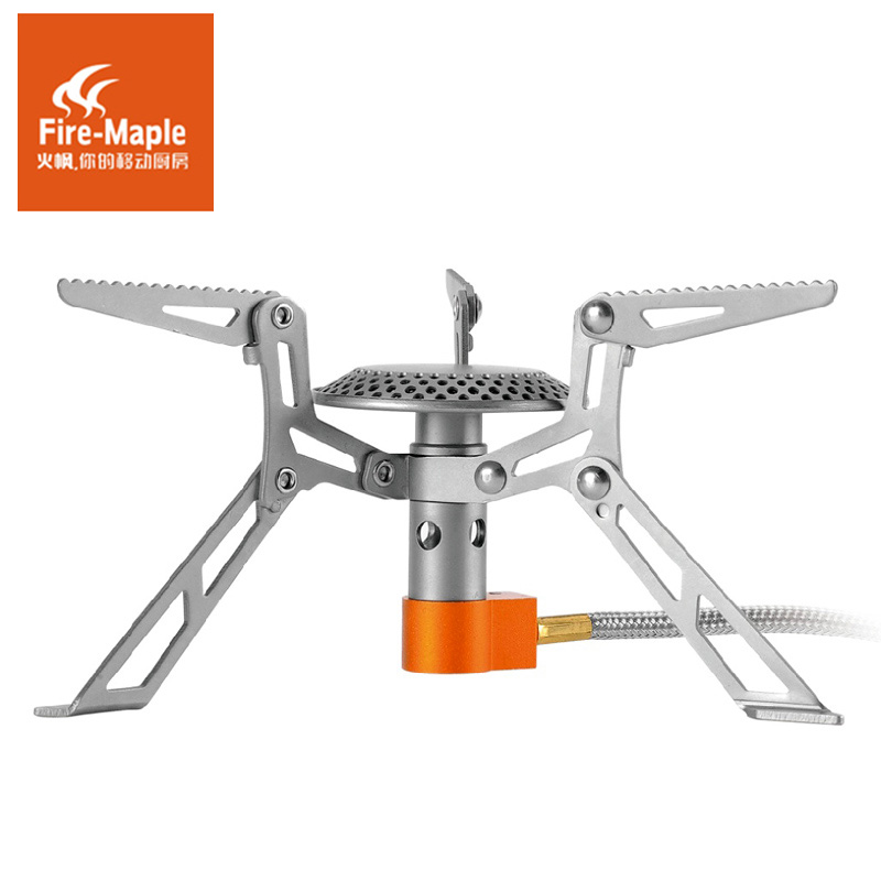 Fire-maple Outdoor Gas Camping Stove Travel Cooking Stove Ultra-light Split type Gas Stove FMS-117T fire maple blade 2 upgrade split gas stove ultra light titanium alloy outdoor cooker gas burner camping equipment 135g fms 117h