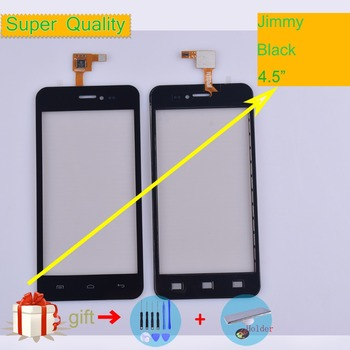 For Wiko Jimmy Touch Screen Panel Sensor Digitizer Front Outer Glass Touchscreen Jimmy Touch Panel Black Replacement