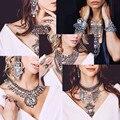 Popular europa 2016 grandes accesorios de moda joyería de las mujeres collar de perlas y colgantes étnicos vintage crystal choker collar venta
