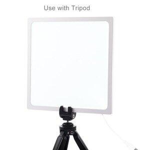 Image 4 - Mini ışık kutusu fotoğraf stüdyosu 22.5 LED fotoğraf gölgesiz alt ışık gölge ücretsiz işık lambası paneli 20 cm fotoğraf stüdyo