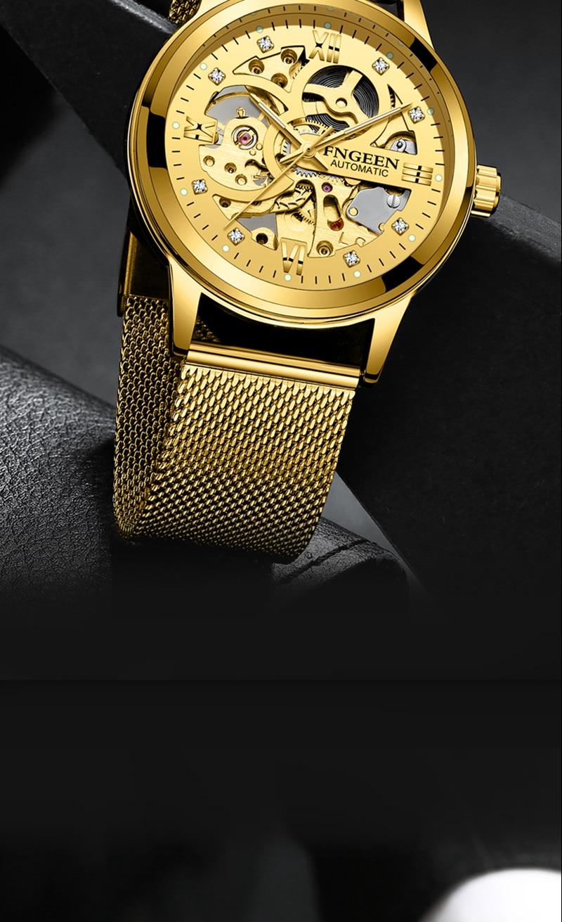 HTB18gb3B5OYBuNjSsD4q6zSkFXat Skeleton Watch 2019 New FNGEEN Sport Mechanical Watch Luxury Watch Mens Watches Top Brand Montre Homme Clock Men Automatic Watch