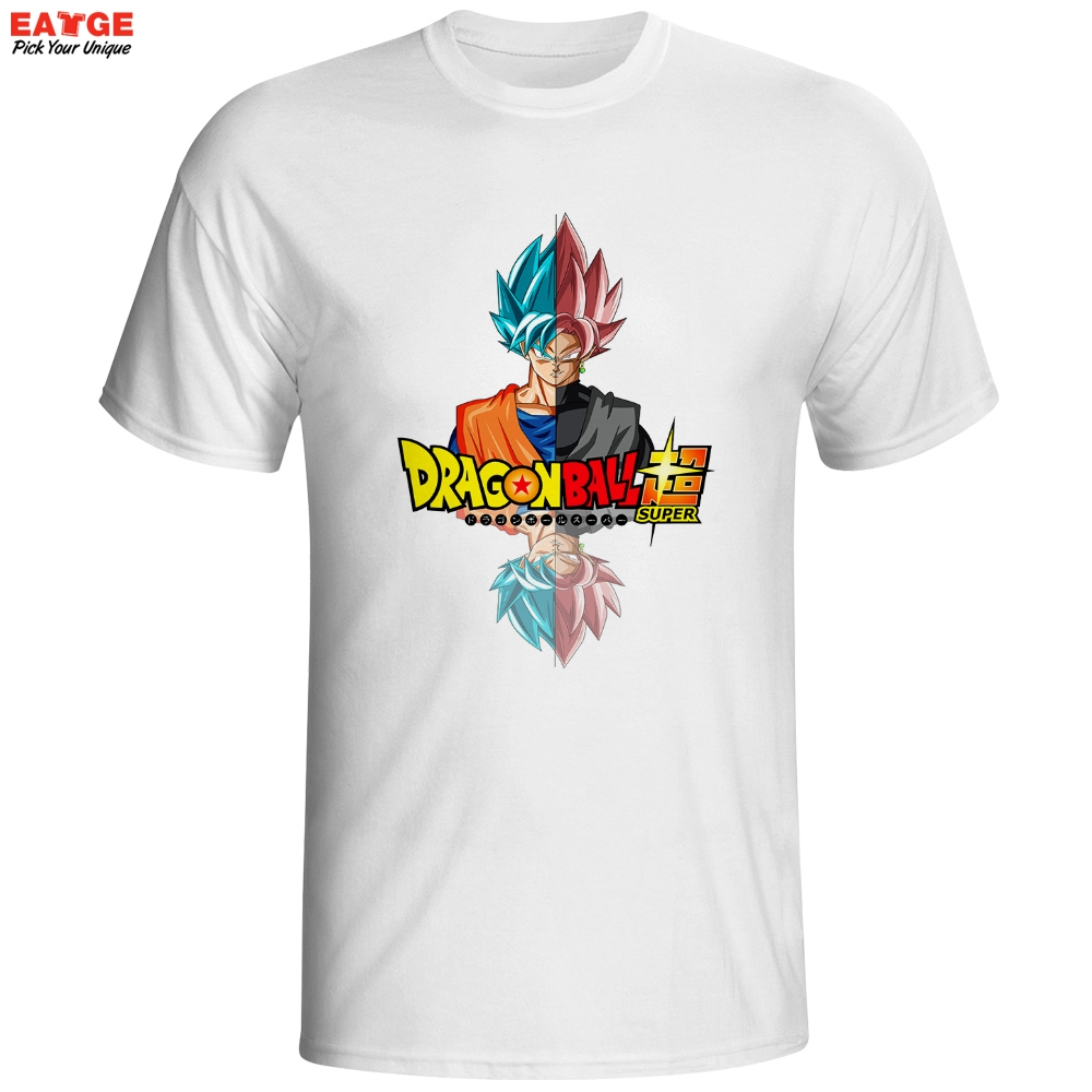 03fd6468ab846 Dragon Ball Super Saiyan Rose T Shirt Japanese Anime Goku Black T ...