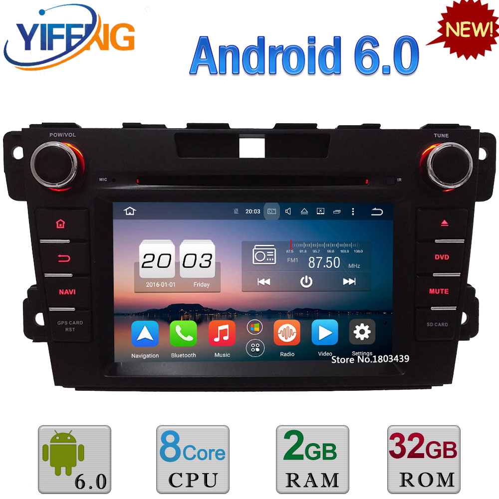 7 Octa base Android 6.0 4 GB RAM 32 GB ROM 3G/4G WIFI DAB + RDS DVD de Voiture Multimédia Radio Audio GPS Lecteur Pour Mazda CX-7 2007-2015