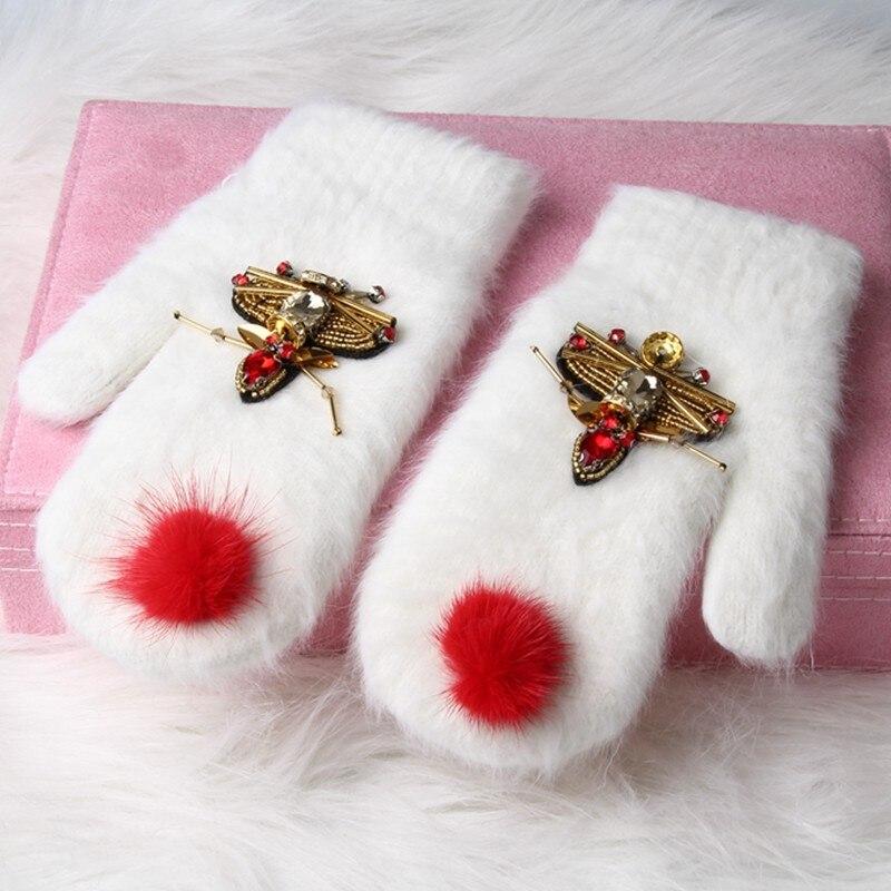 Tienda Online Otoño Invierno lindo Mickey Niñas Guantes conejo de ...