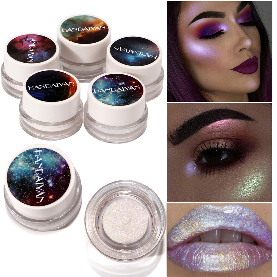 Beautiful Cosmetics for Charming Girl 5 Colors Pearlescent Monochrome Eye Shadow Mini Waterproof Eyeshadow
