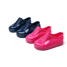 Mini Melissa Sports Kids Shoes 2019 New Flat Slip-on Hand-held Shoelace Sandals Sneakers Breathable Boys and Girls