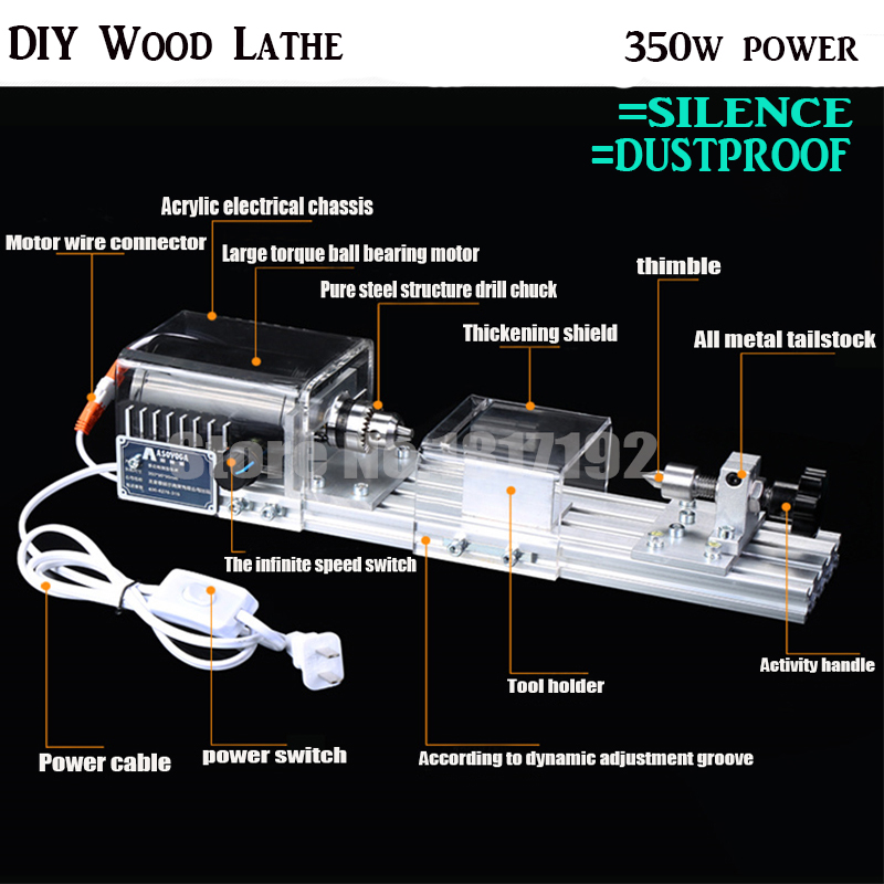 DIY Wood Lathe Mini Lathe Machine Polisher Table Saw for polishing Cutting,metal mini lathe/didactical DIY lathe ship by DHL цены