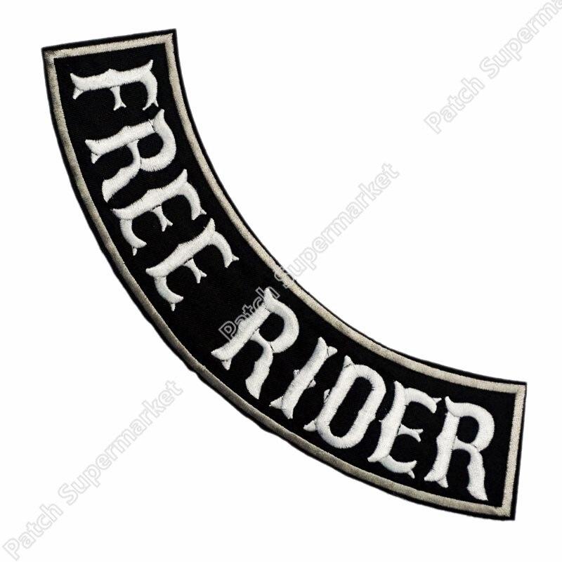 """11 """"xl Geen Club Gratis Rider Bodem Rocker Leather Jacket Terug Metal Rock Punk Kleding Ijzer Op Patch Biker Vest Patch Motorfiets Van Hoge Kwaliteit"""
