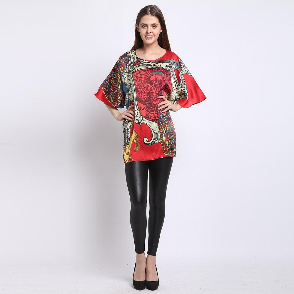 Silk Tops 100% Natural Mulberry Silk Printed Pregnant Women Summer Shirt 2016 Clock maternity Crop Tops silk