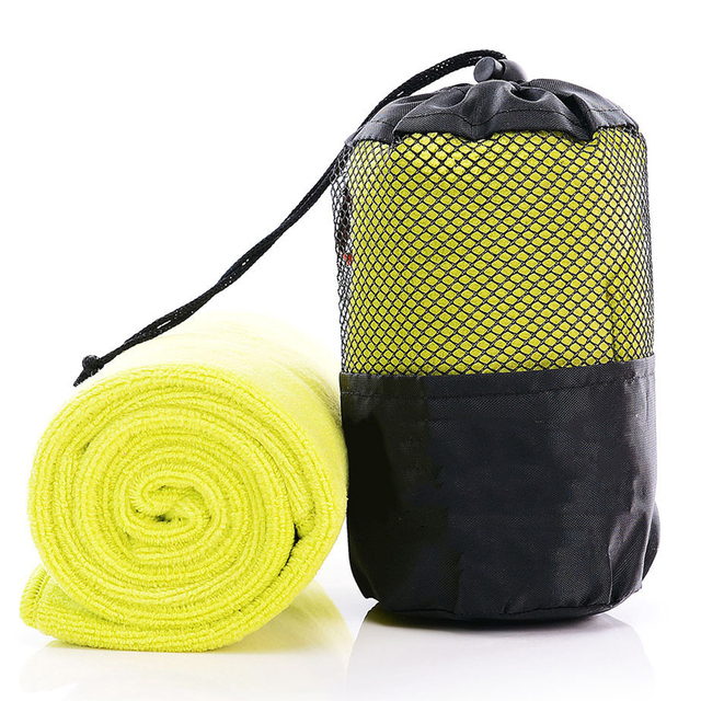 Indoor Outdoor Sports Towel Microfibre Travel Towel Quick dry Fitness Towel with Mesh Bag for Gym Sport Travel Yoga Camping