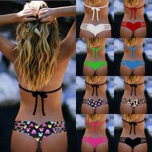 Bikini bottom thong sexy string swimwear bikini font b swim b font bottom for women Heart