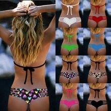 Bikini bottom thong sexy string swimwear bikini swim bottom for women Heart T-Back Beachwear Bikini Bottom Swimwear 2016 biquini