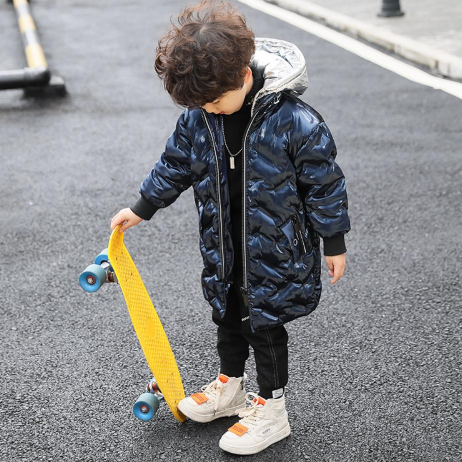Winter Baby Down Cotton Jacket Baby Boy Clothes Childrens Glossy Coat Thicker Warm Kids Parkas Long Sleeve Hooded Outwear Y150Winter Baby Down Cotton Jacket Baby Boy Clothes Childrens Glossy Coat Thicker Warm Kids Parkas Long Sleeve Hooded Outwear Y150