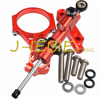 CNC Steering Damper Stabilizer and Red Bracket Mounting For Kawasaki Versys 1000 2012-2016 2013 2014 2015