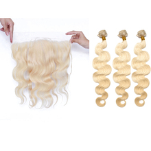 613 Body Wave Bundles With 13×4 Lace Frontal Brazilian Hair Weave 3 Human Hair Bundles With Closure Remy Hair Prosa