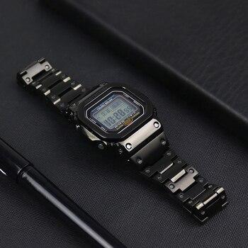 Accesoriosgt; Caso De Sikai Correa M5610 Shock Inoxidable Y Gw 5000 Casio 316l G Acero Para Dw5600500050255035 5035 Reloj gt; 34Aj5RL