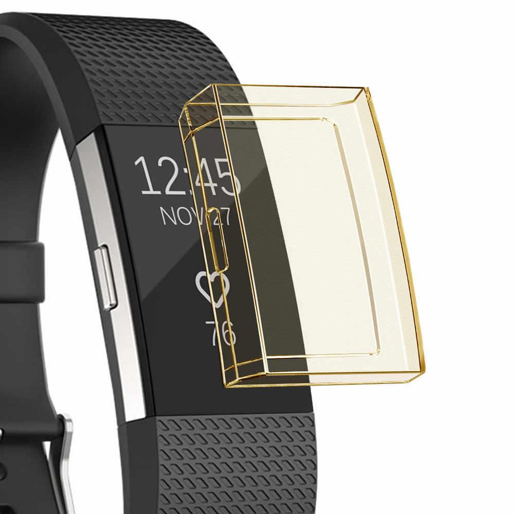 Funda protectora de silicona TPU suave ultrafina y duradera de alta calidad para Fitbit Charge 2 # T2