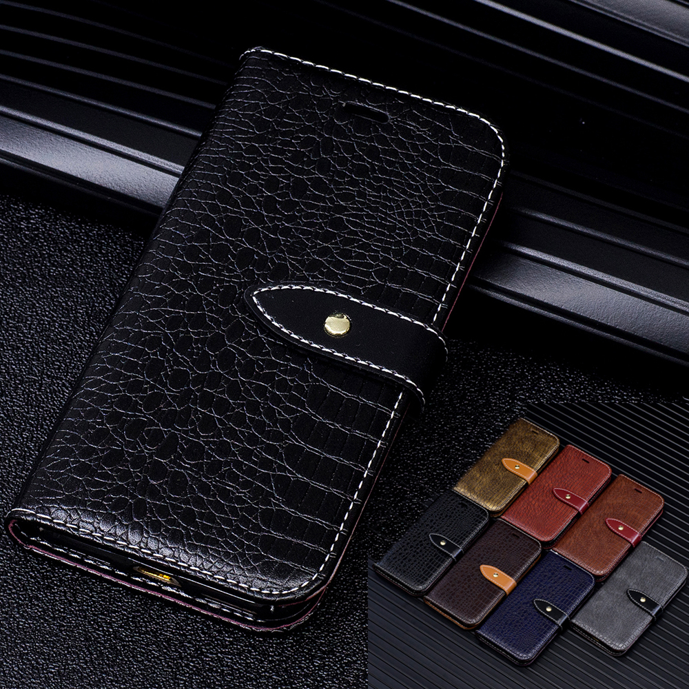 B118 Crocodile Wallet Leather Case for Apple iPhone X 8 7 6 6s Plus Luxury Flip Coque Phone Bag Cover For iPhone X Fundas Capa