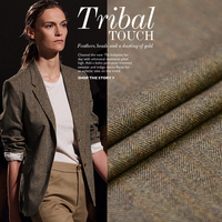 Wool Fabric Wholesale Fluffy Warm Waxy Touching Word Grain Cashmere Warm Fabric 8 Cashmere Suit Cloth