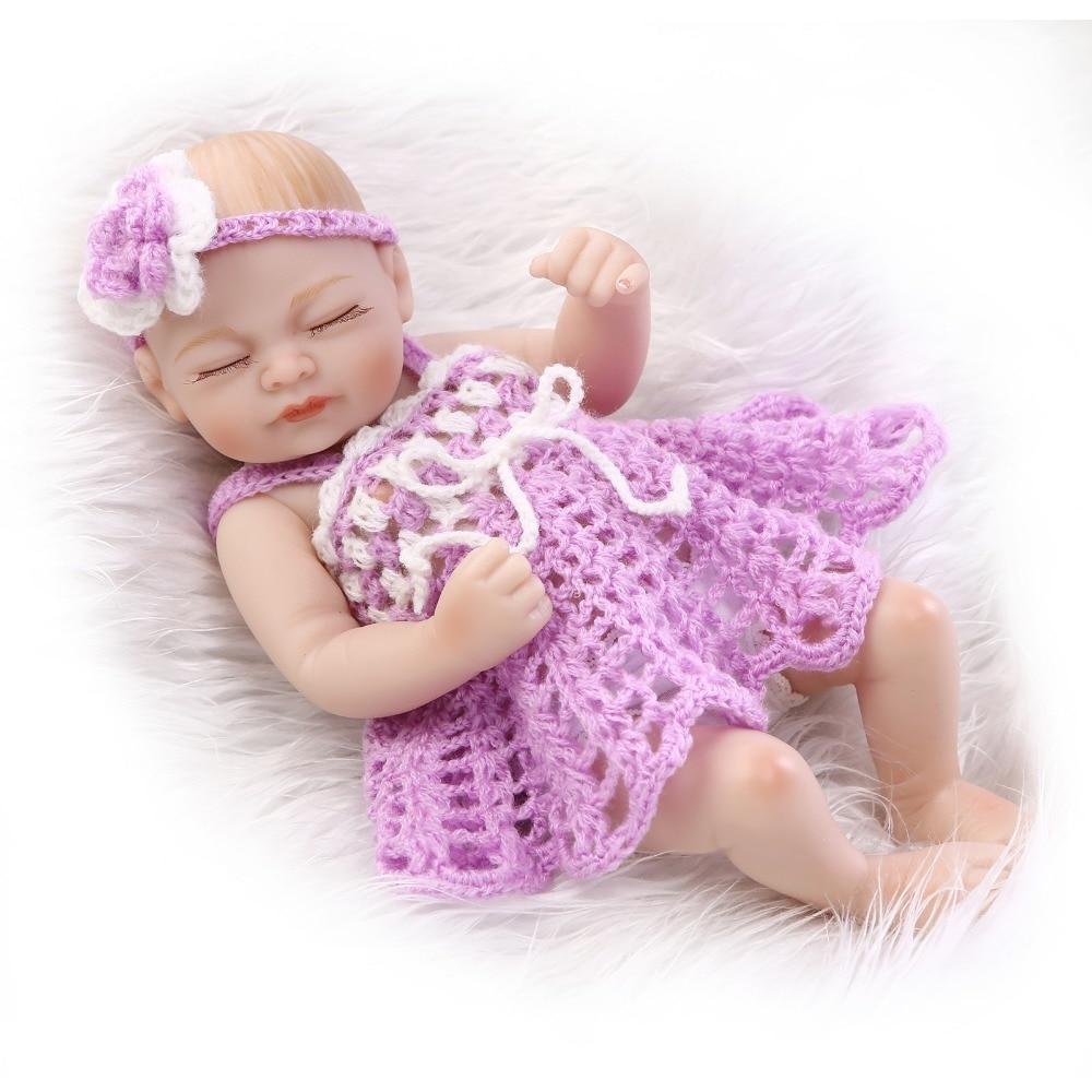 10 pouces miniature prématuré nouveau-né baby doll en vinyle souple en  silicone réel tactile 15041383039