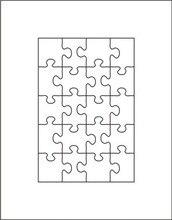 """パズルは 4 """"x6"""" 20 個厚さ 23.8 ミリメートル"""