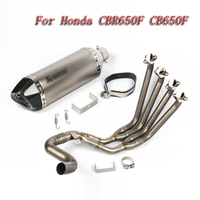 Мотоцикл выхлопной полная система трубы для Honda CBR650F CBR650 CB650F с выхлопных газов