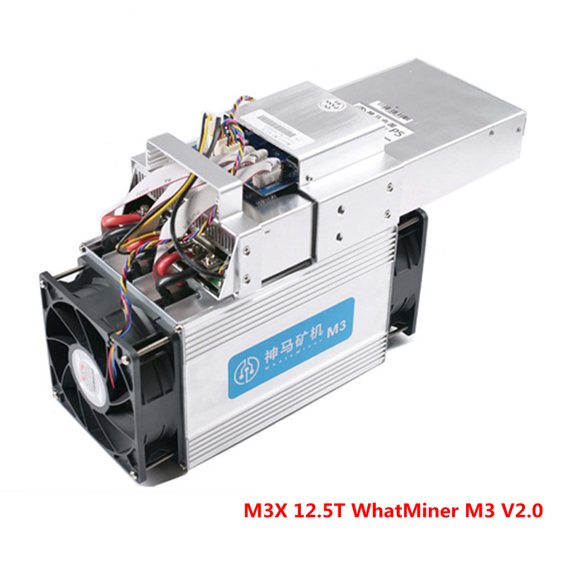 Bitcoin Asic Miner WhatsMiner M3X 12.5TH/S Whatminer M3 V2.0 Scrypt Coin BTC BCH BCC plate-forme minière (avec PSU) mur puissance 2050 W utilisé