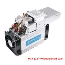 Для биткойнов, асик-Майнер WhatsMiner M3X 12.5TH/S Whatminer M3 V2.0 Scrypt монета БТД МПБ BCC Ферма для майнинга (с БП) стены Мощность 2050 Вт используется