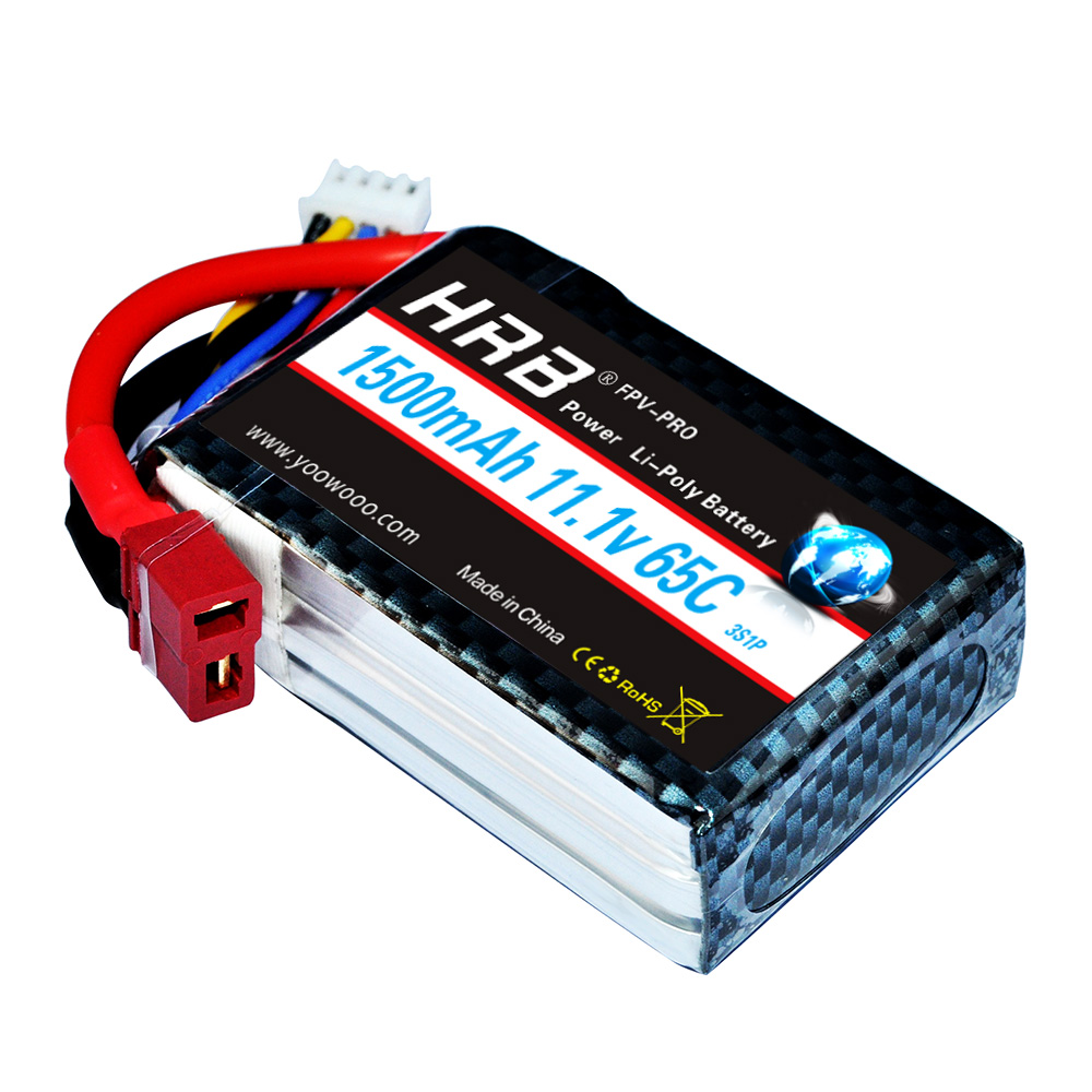 Image 4 - HRB Lipo Battery 2S 3S 4S 5S 6S 7.4V 11.1V 14.8V 18.5V 22.2V 1300mAh 1500mah 45C 65C 90C For Racing Drone FPV Quadcopter-in Parts & Accessories from Toys & Hobbies